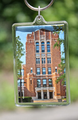Central Warriner Hall Key Chain With Central Michigan University On Back