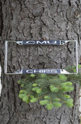 C M U Chips License Frame With Tire Pattern