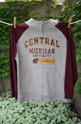 Maroon And Gray Central Michigan University Zip Up Jacket