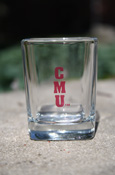 C M U Square Shot Glass 2 Oz