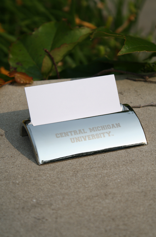 Central Micigan Silver Business Card Holder (SKU 5000049475)