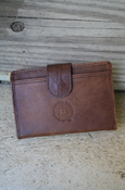Ladies Wallet - Genuine Leather Seal With Pattern On Inside