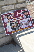 Central Michigan Flying C Maroon And Gold Multiple Picture Wall Frame