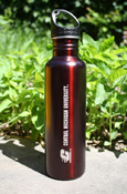 Flying C Central Michigan University Dark Maroon Stainless Steel Bottle