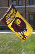 3X5 Football Helmet Flying C Central Michigan Flag