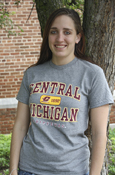 Central Michigan Chippewas Yellow Oval With Flying C 1892 Gray T-Shirt
