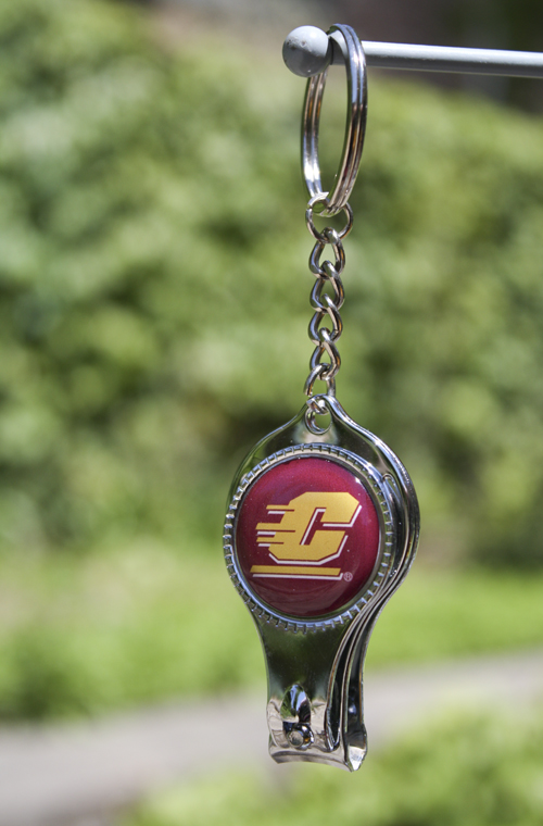 Flying C Nail Clippers Key Chain | The CMU Bookstore