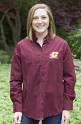 Button-Down - Ladies Maroon Flying C