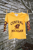 Gold Central Michigan Flying C Layered Youth Shirt