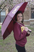 "Maroon Cmu Vented 42"" Umbrella"