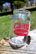 Shot Glass - C M U Chippewas Mason Jar 4Oz
