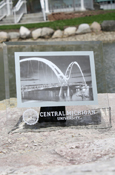 "4""X6"" Glass Picture Frame With Central Michigan And Seal"