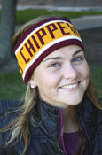 Chippewas Maroon & Gold Headband