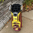 Maroon and Gold Central Michigan Golf Cart Bag