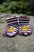 Striped Flying C Booties
