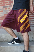 Chippewas Aftershock Maroon And Gold Adidas Shorts