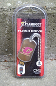 Flying C 8 Gb Flashdrive Keychain with CMU Logo On Reverse