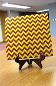 Paper - 12 X 12 Maroon And Gold Large Chevron Scrapbook Paper