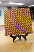Paper - 12 X 12 Maroon And Gold Quatrefoil Scrapbook Paper