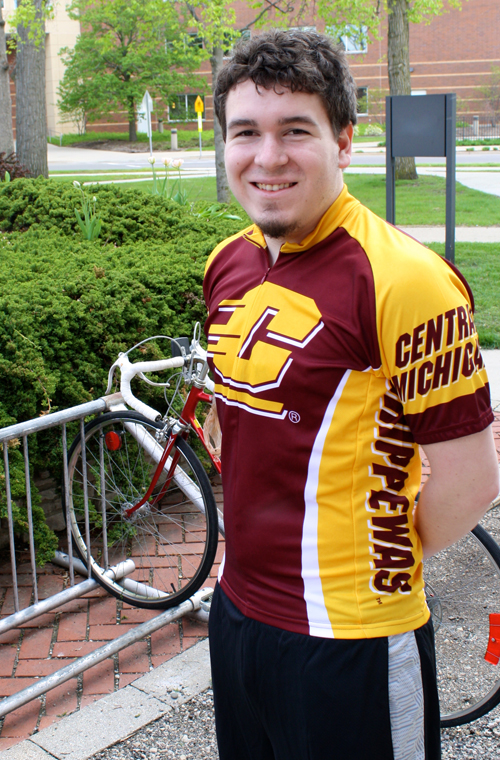 89afed5c9 Maroon Flying C Central Michigan Chippewas Cycling Jersey