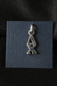 Delta Chi Sterling Silver Lavalier