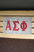 "Alpha Sigma Phi Approx. 18""X10"" Banner"