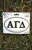 Alpha Gamma Delta - Oval Euro-Style Decal
