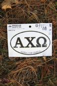 Alpha Chi Omega - Oval Euro-Style Decal