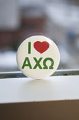 Alpha Chi Omega - 'I Heart' Button