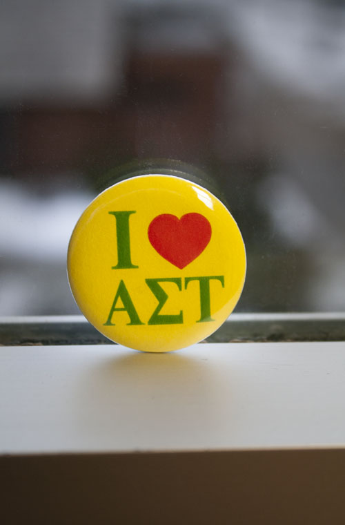 Alpha Sigma Tau - 'I Heart' Button (SKU 5011968481)