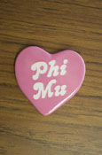 Phi Mu - Heart Button