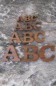 Wood Letters - Regular Wood With Adhesive Back