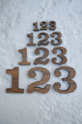 Wood Numbers - Regular Wood With Adhesive Back