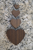 Wood Heart - Regular Wood With Adhesive Back