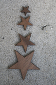 Wood Star - Regular Wood With Adhesive Back