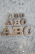 Wood Letters - Double Oak With Adhesive Back