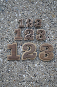 Wood Numbers - Double Oak With Adhesive Back