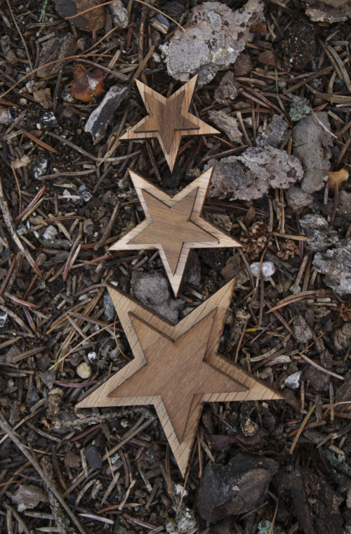 Wood Star - Double Oak with Adhesive Back (SKU 5012434379)