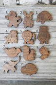 Wood Small Symbols - Animals With Adhesive Back