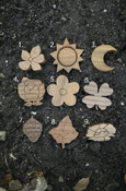Wood Small Symbols - Nature with Adhesive Back