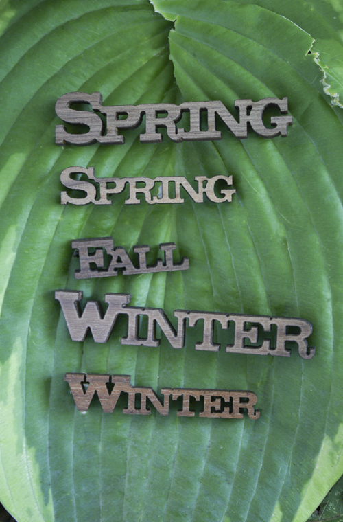 Wood Words - Horizontal Seasons With Adhesive Back