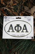 Alpha Phi Alpha - Oval Euro-Style Decal