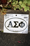 Alpha Sigma Phi - Oval Euro-Style Decal
