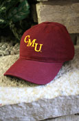 Ladies Maroon C M U Adjustable Hat