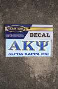 Alpha Kappa Psi - Stacked Decal
