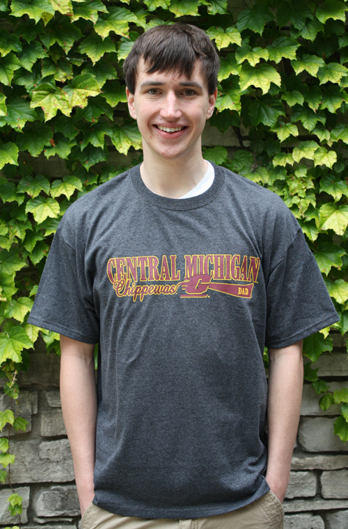 Dad - Central Michigan Chippewas Flying C Gray T-Shirt (SKU 5014024444)