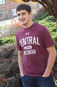 Maroon Under Armour Central Michigan C M U T-Shirt