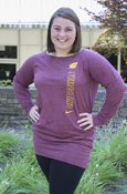 Flying C Chippewas Ladies Nike Maroon Long Shirt