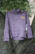 Youth Under Armour Central Michigan Heather Maroon 1/2 Zip With Under Armour On Sleeve
