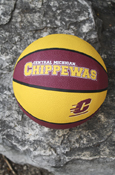 Basketball - Official Size Central Michigan Chippewas Flying C Maroon And Gold